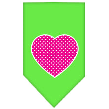 Load image into Gallery viewer, Pink Swiss Dot Heart Screen Print Bandana