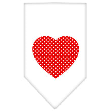 Load image into Gallery viewer, Red Swiss Dot Heart Screen Print Bandana