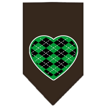 Argyle Heart Green Screen Print Bandana