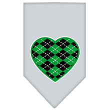 Load image into Gallery viewer, Argyle Heart Green Screen Print Bandana
