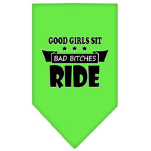 Load image into Gallery viewer, Bitches Ride Screen Print Bandana
