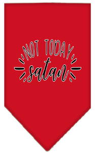 Not Today Satan Screen Print Bandana