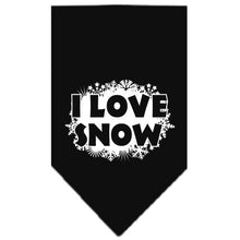 Load image into Gallery viewer, I Love Snow Screen Print Bandana