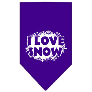 I Love Snow Screen Print Bandana