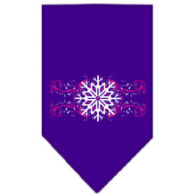 Load image into Gallery viewer, Pink Snowflake Swirls Screen Print Bandana