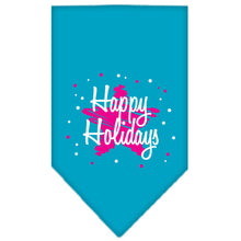 Load image into Gallery viewer, Scribble Happy Holidays Screen Print Bandana