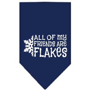 All My Friends Are Flakes Screen Print Bandana