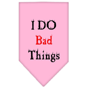 I Do Bad Things Screen Print Bandana