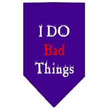 Load image into Gallery viewer, I Do Bad Things Screen Print Bandana