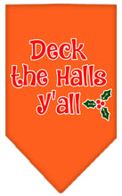 Load image into Gallery viewer, Deck The Halls Y'all Screen Print Bandana