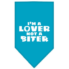 Load image into Gallery viewer, I'm A Lover Not A Biter Screen Print Bandana