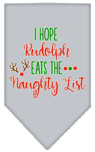 Hope Rudolph Eats Naughty List Screen Print Bandana