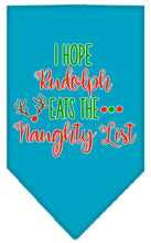 Load image into Gallery viewer, Hope Rudolph Eats Naughty List Screen Print Bandana