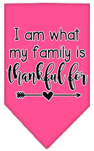 Load image into Gallery viewer, I Am What My Family Is Thankful For Screen Print Bandana