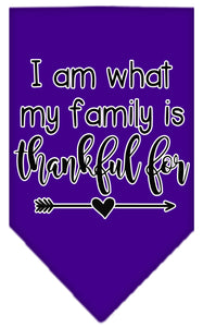 I Am What My Family Is Thankful For Screen Print Bandana