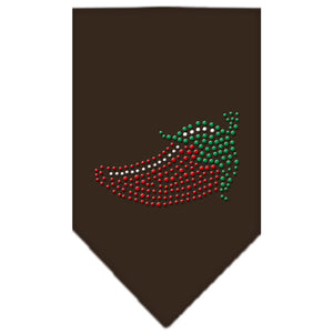 Chili Pepper Rhinestone Bandana