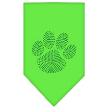 Load image into Gallery viewer, Paw Green Rhinestone Bandana