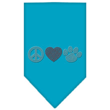 Load image into Gallery viewer, Peace Love Paw Rhinestone Bandana