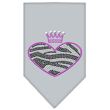 Load image into Gallery viewer, Zebra Heart Rhinestone Bandana