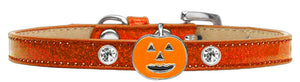 Pumpkin Charm Dog Collar Ice Cream Size