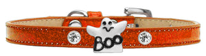 Ghost Charm Dog Collar Ice Cream Size