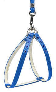 Step-in Harness Blue W/ Blue Stones