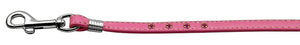 "Step-in Harness Pink W- Pink Stones 3-8"" Match Jwl Leash Silver Hrdw"