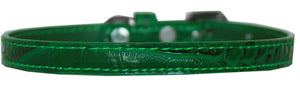 Omaha Plain Croc Dog Collar Size