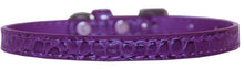 Load image into Gallery viewer, Omaha Plain Croc Dog Collar Size