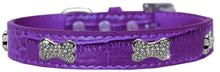 Load image into Gallery viewer, Croc Crystal Bone Dog Collar Size