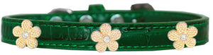 Gold Flower Widget Croc Dog Collar Size
