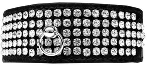 Mirage 5 Row Rhinestone Designer Croc Dog Collar