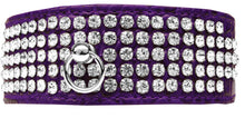 Load image into Gallery viewer, Mirage 5 Row Rhinestone Designer Croc Dog Collar