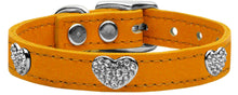Load image into Gallery viewer, Crystal Heart Genuine Leather Dog Collar