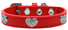 Load image into Gallery viewer, Crystal Heart Dog Collar Size