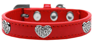 Crystal Heart Dog Collar Size