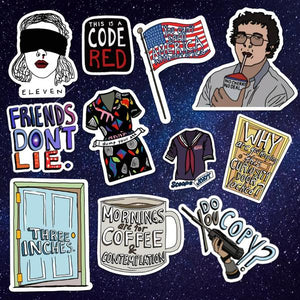 Stranger Things Fan Art Stickers