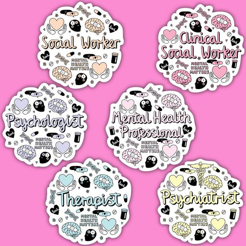 Mental Health Professionals Sticker Pack
