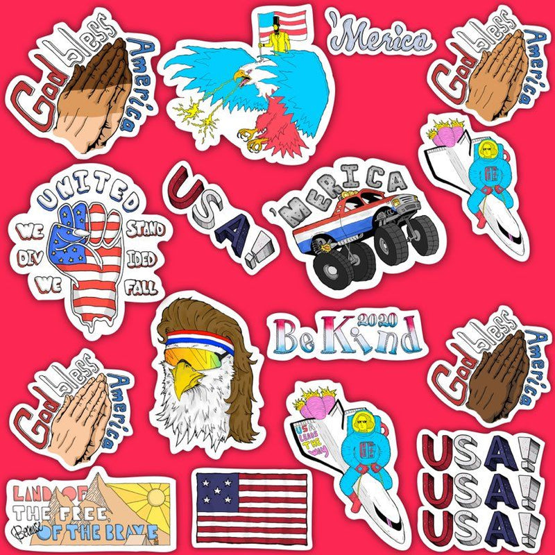 USA Sticker Pack