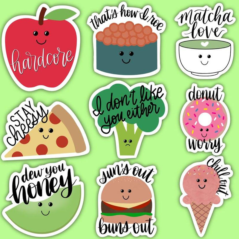 Food Pun Sticker Pack