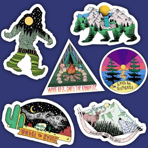 Outdoor Nature Sticker 6 Pack