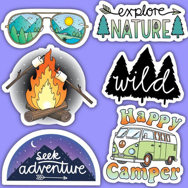 Nature Outdoors Stickers 6 Pack
