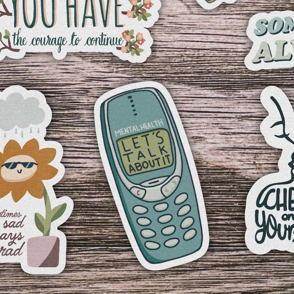 Mental Health Let's Talk About It Phone Sticker