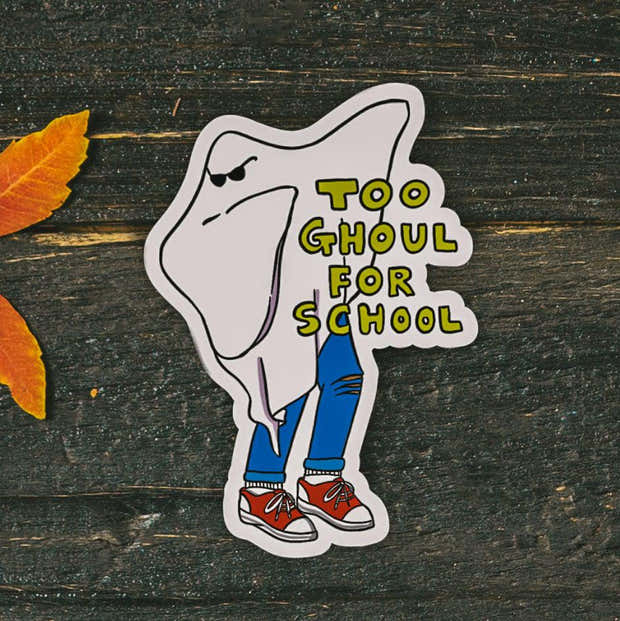 Too Ghoul For School Dabbing Halloween Sticker 1