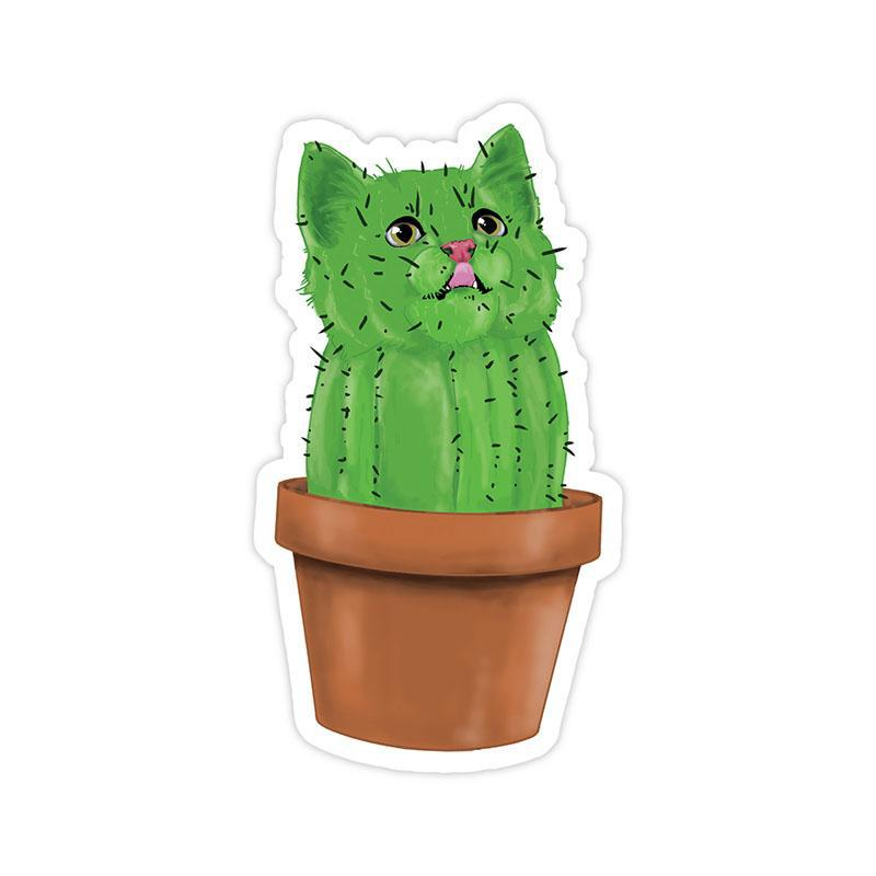 Cacti cat sticker