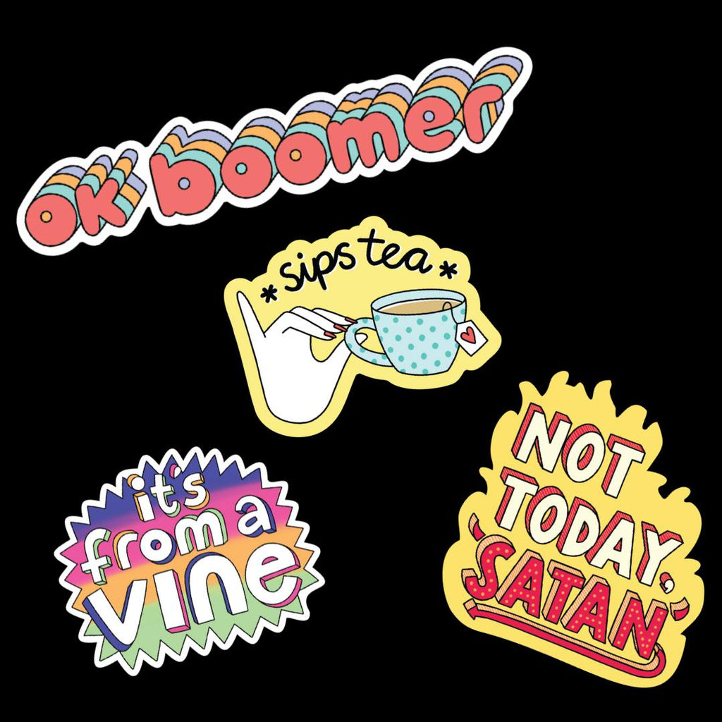 Meme sticker 4 pack