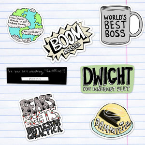 Office Sticker 7 Pack