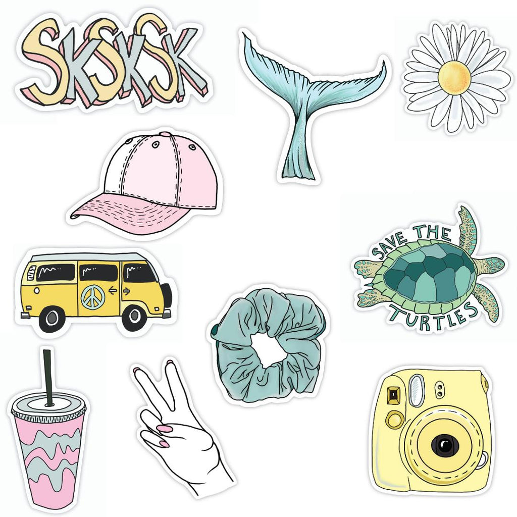 VSCO girl sticker 10 pack