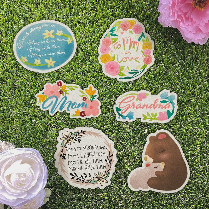 Here's to Strong Women, May we Know Them, May we be Them, May we Raise Them Pastel Sticker