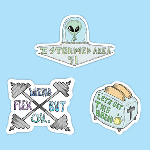 Meme sticker 3 pack